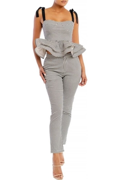 Shoptiques Product: Gingham Peplum Set