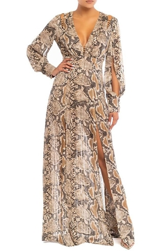 luxxel Gold Bead Snake Maxi Dress - Product List Image