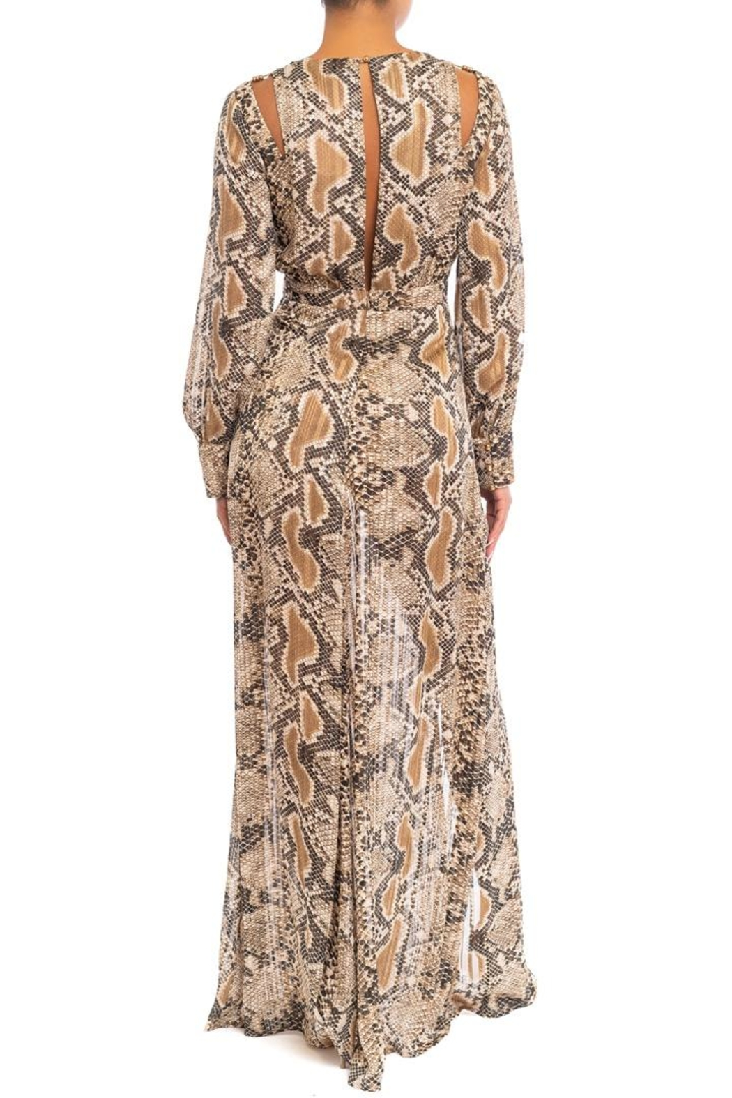 luxxel Gold Bead Snake Maxi Dress - Front Full Image