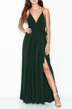 Shoptiques Product: Green Maxi Jumpsuit
