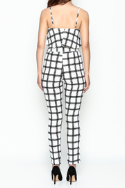 luxxel Gridlines Pant Set - Back cropped