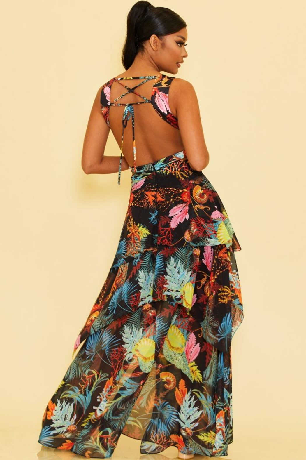 luxxel Island Layered Maxi - Front Full Image