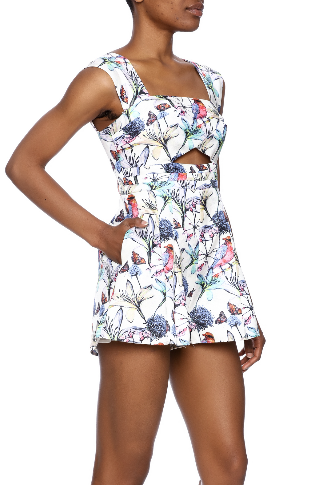luxxel Justina Floral Romper - Main Image