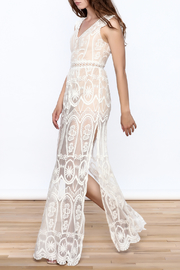 luxxel Lace Mesh Maxi Dress - Product Mini Image
