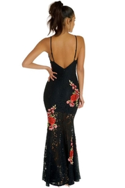 luxxel Lace Patch Maxi-Gown - Side cropped