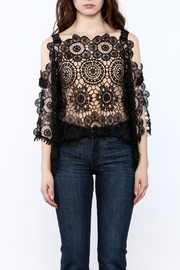 luxxel Lace Poncho Top - Side cropped