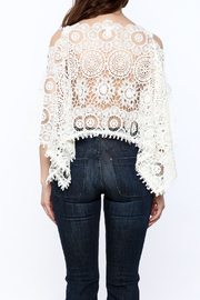 luxxel Lace Poncho Top - Back cropped