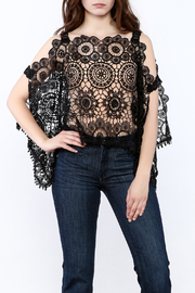 luxxel Lace Poncho Top - Product Mini Image