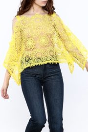 luxxel Lace Poncho Top - Front cropped