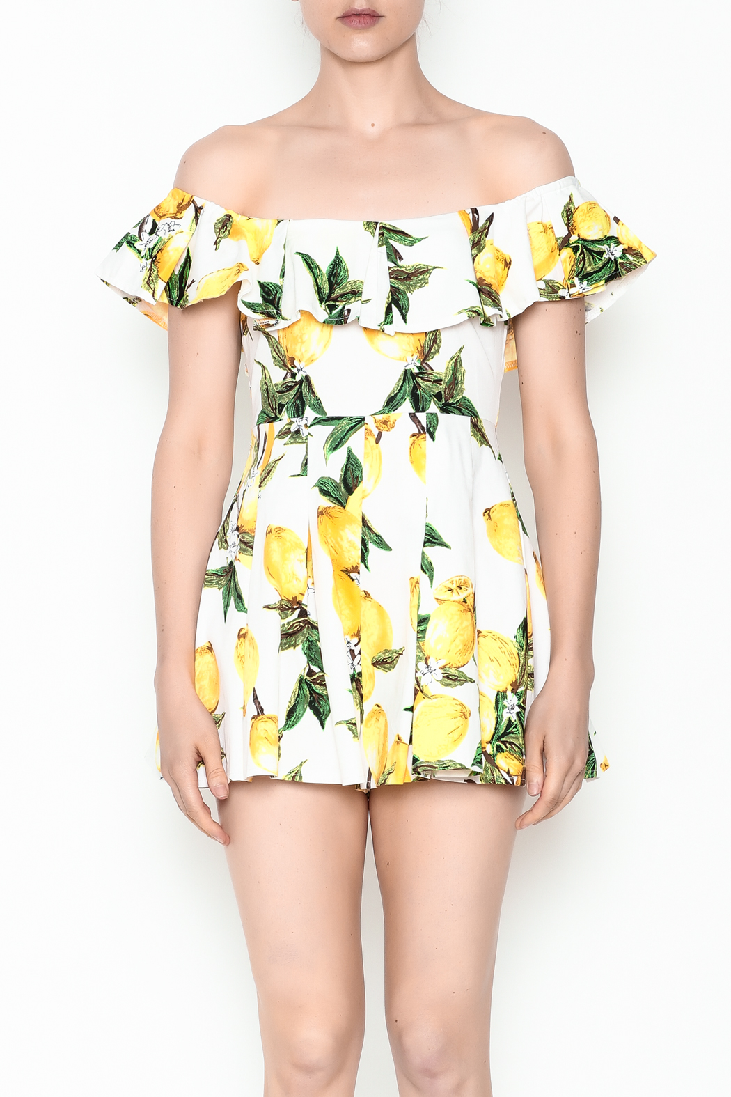 9969b9035f79 luxxel Lemon Printed Romper from New York by Dor L Dor — Shoptiques