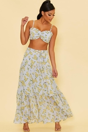 luxxel Lemon Skirt Set - Front cropped
