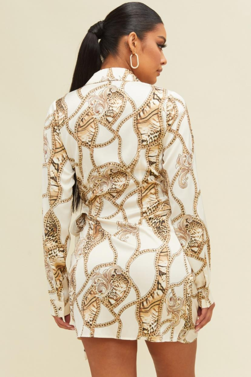 luxxel Leopard Chain Dress - Front Full Image