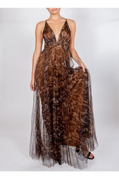 luxxel Leopard Glam Gown - Product List Image