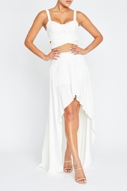 luxxel Linen Skirt Set - Front cropped