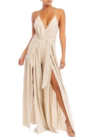 luxxel Linen Split-Leg Jumpsuit - Product Mini Image