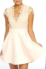 luxxel Medallion Crochet Dress - Front cropped