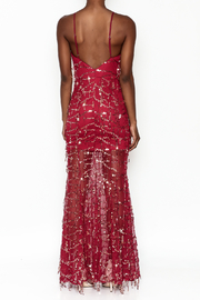 luxxel Mermaid Sequin Maxi Dress - Back cropped