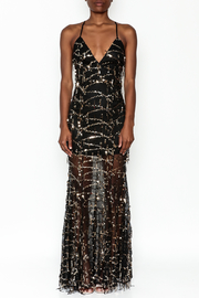 luxxel Mermaid Sequin Maxi Dress - Front full body