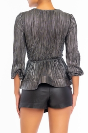 luxxel Metal Pleated Blouse - Front full body