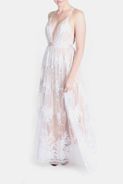 luxxel Nude Monochrome Floral Gown - Alternate List Image