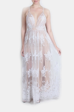 luxxel Nude Monochrome Floral Gown - Product List Image