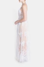luxxel Nude Monochrome Floral Gown - Other