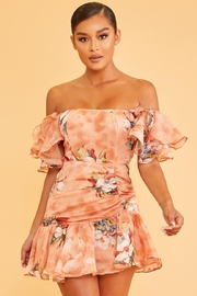 luxxel Off-Shoulder Floral Dress - Product Mini Image