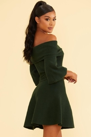luxxel Off-Shoulder Sweater Dress - Front full body