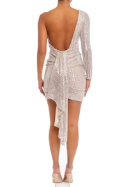 luxxel One-Shoulder Sequin Mini-Dress - Front full body