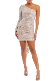 luxxel One-Shoulder Sequin Mini-Dress - Product Mini Image