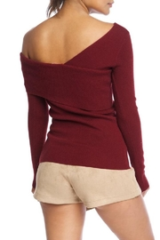 luxxel One Shoulder Sweater - Front full body