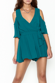 luxxel Open Shoulder Romper - Front cropped