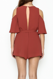 luxxel Open Shoulder Romper - Back cropped