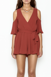 luxxel Open Shoulder Romper - Front full body
