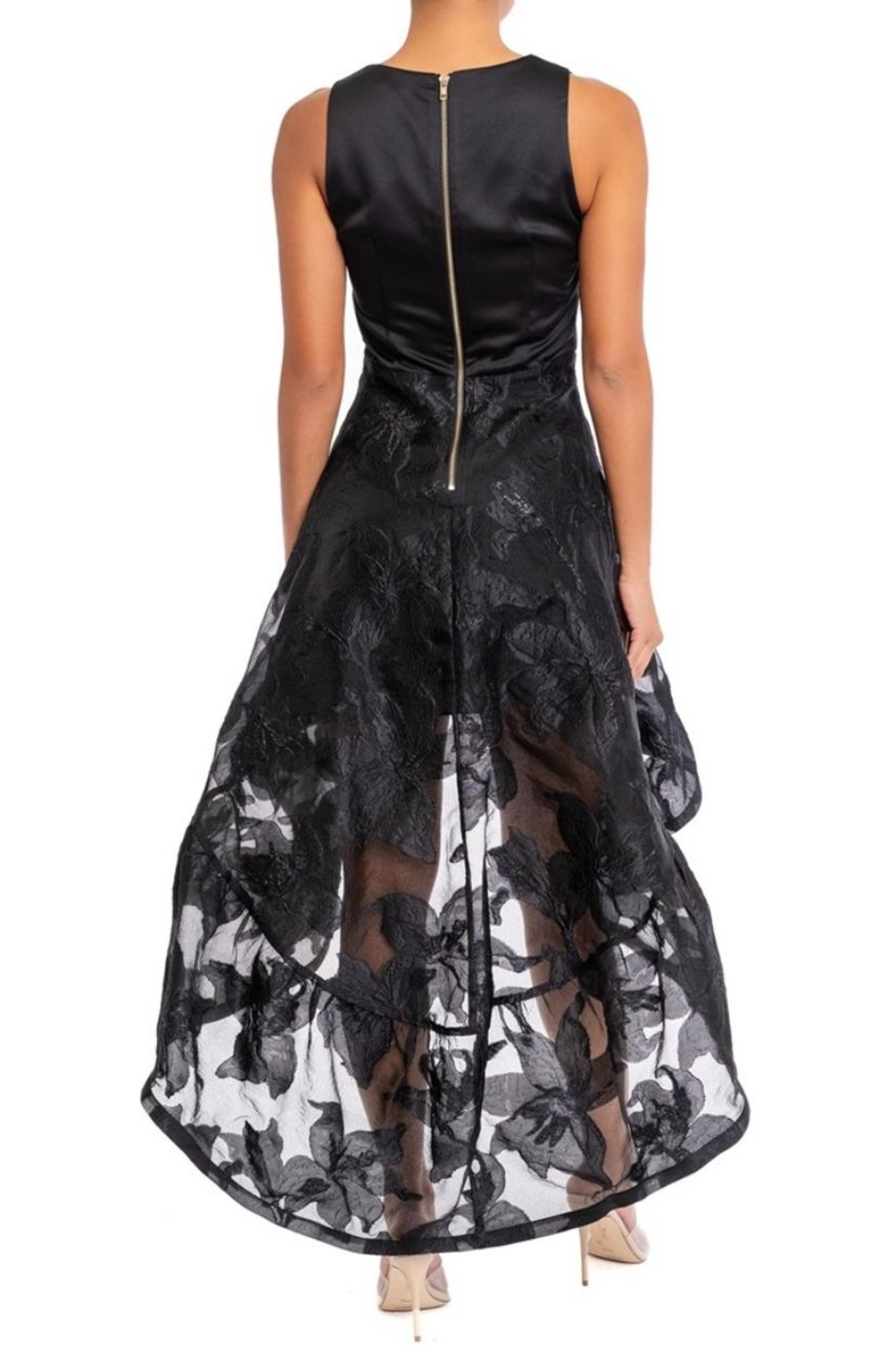 luxxel Organza-Floral Hi-Low Dress - Front Full Image