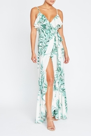 luxxel Palm Leaves Wrap-Dress - Product Mini Image