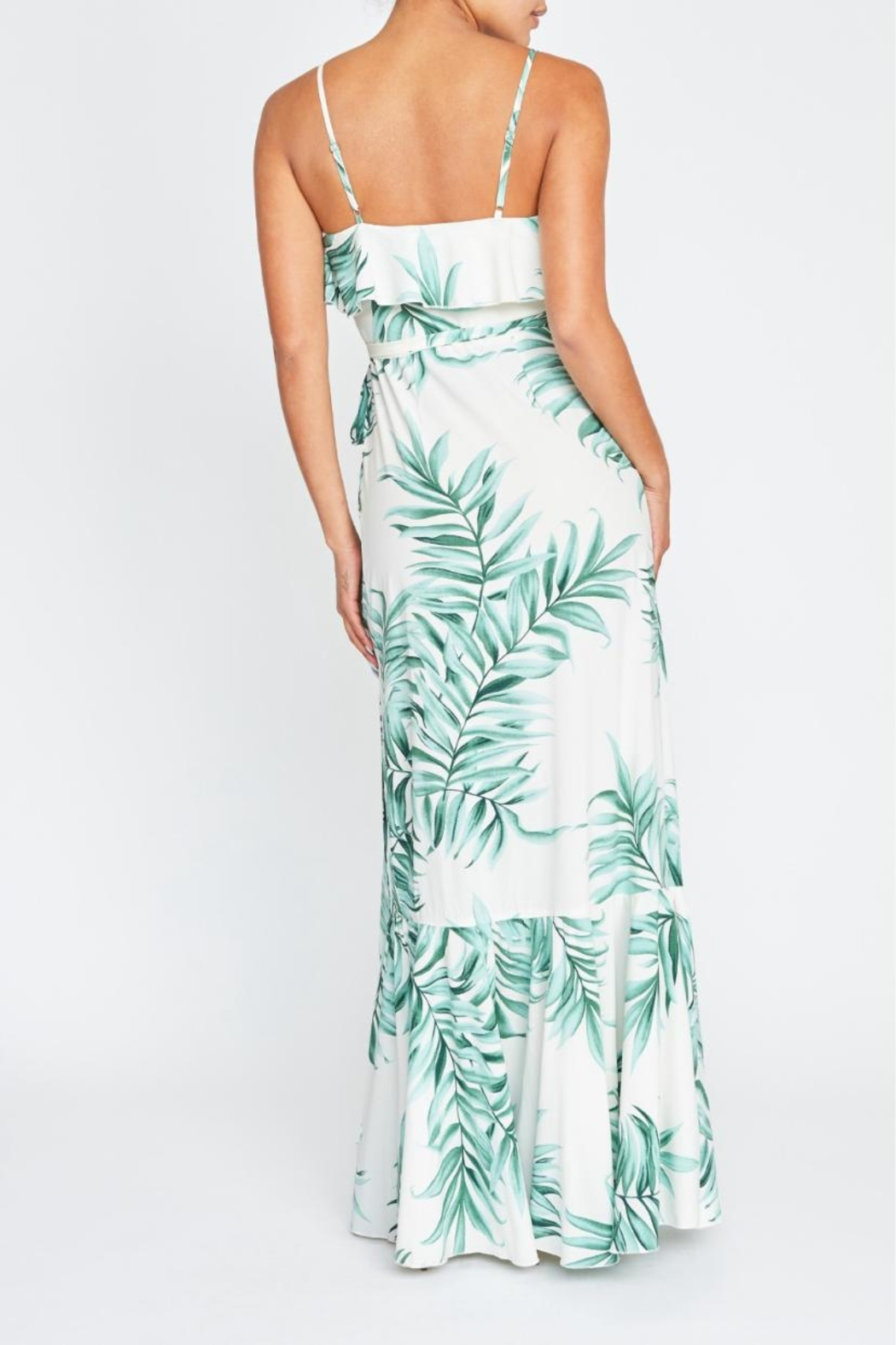luxxel Palm Leaves Wrap-Dress - Front Full Image