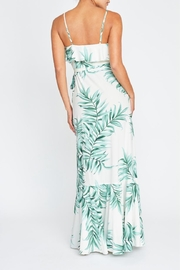 luxxel Palm Leaves Wrap-Dress - Front full body