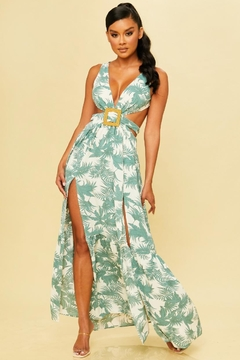 luxxel Palm Print Maxi - Product List Image