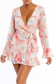luxxel Pastel Wrap Romper - Front cropped