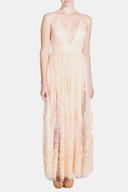 luxxel Pink Monochrome Floral Gown - Other