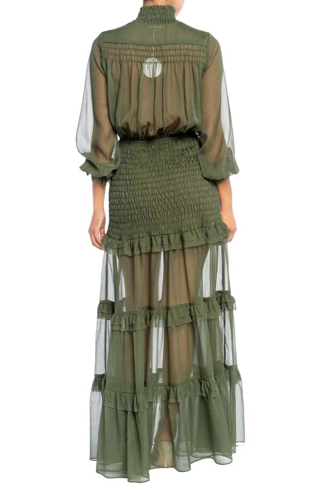 luxxel Pintuck Scrunch Maxi - Front Full Image