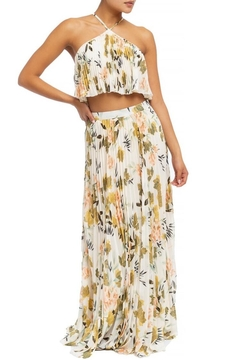 luxxel Pleated Floral Skirt-Set - Product List Image
