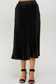 luxxel Pleated Midi Skirt - Front cropped