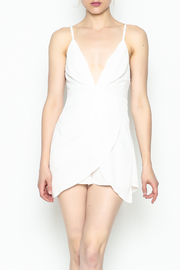 luxxel Pleated Romper - Front cropped