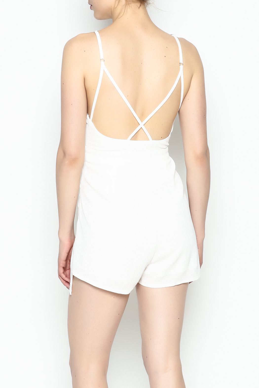 luxxel Pleated Romper - Back Cropped Image