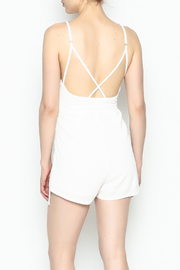 luxxel Pleated Romper - Back cropped
