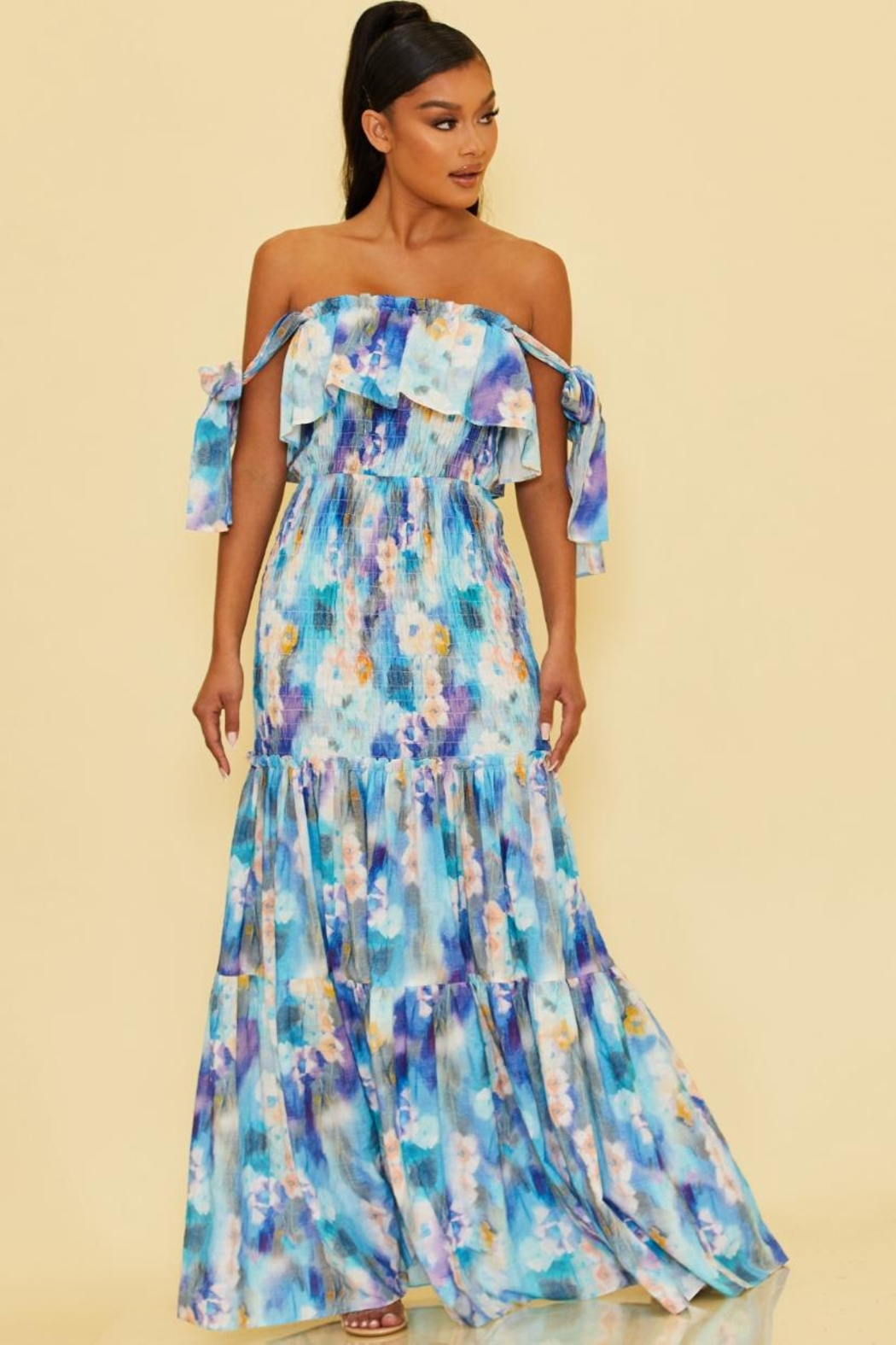 luxxel Printed Scrunch Maxi - Main Image