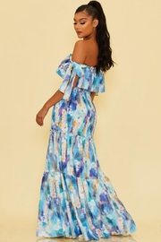 luxxel Printed Scrunch Maxi - Front full body