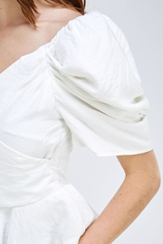 luxxel Puff Sleeve Blouse - Back cropped